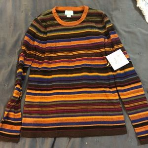 NWT light weight striped sweater
